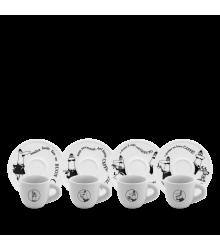 Set 4 tazzine Carosello