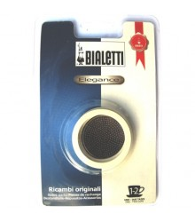 Sada těsnění Bialetti pro nerezové moka konvice - 3 těsnění + 1 sítko, na 1-2 šálky