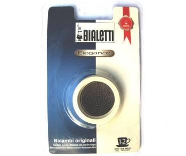 Sada těsnění Bialetti pro nerezové moka konvice - 3 těsnění + 1 sítko, na 1/2 šálky